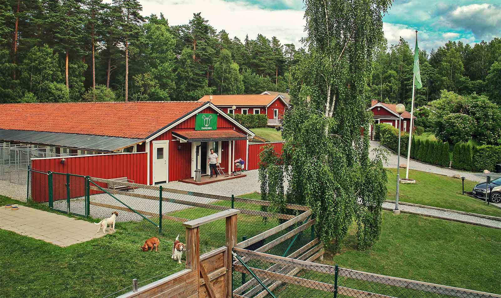 Changdobels Hundpensionat i Täby, överblicksbild